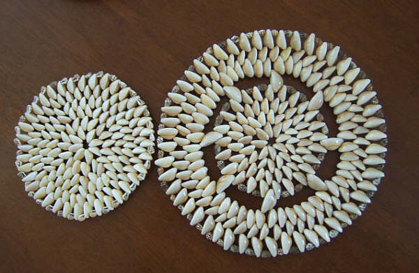 Seashell Placemats, dining room decor