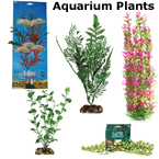 Artificial, Fake Aquarium Plant Decorations, Plastic, Silk