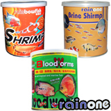 Freeze Dried Fish Food, Brine Shrimp, Blood worms, Krill