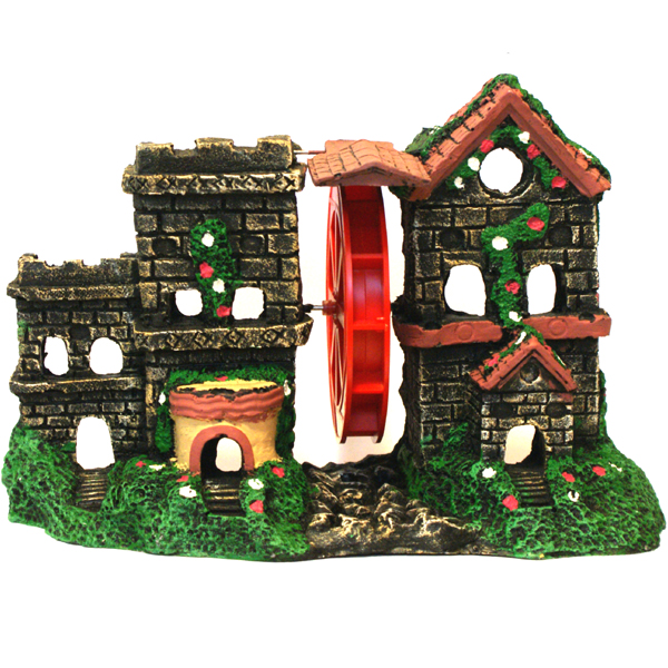 action aerating castle ceramic aquarium ornament
