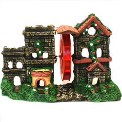 Action Aerating Castle, Ceramic Aquarium Ornament