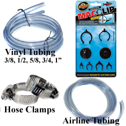 Aquarium, Pond Tubing, Clamps for Pumps, Filters, UV Sterilizer, Clarifier