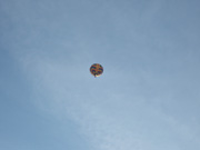 WWJD Balloon high above Parkside, 2009