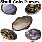 SHELL COIN PURSES