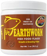 ZooMed Earthworm Fish Food Flake 1 ounce