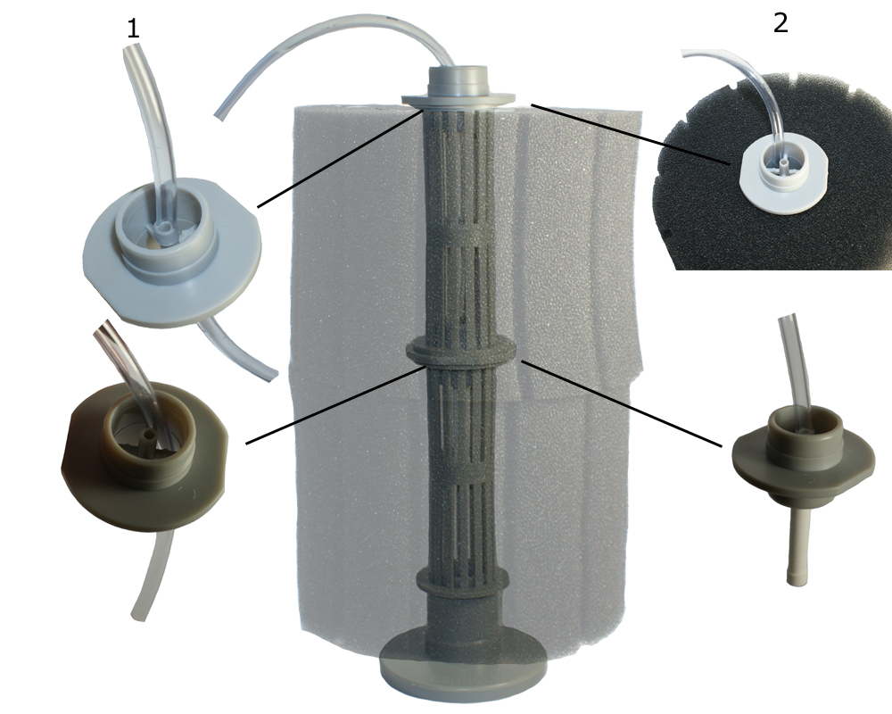 Aquarium pond sponge filtration how these filters work for Pond pump and filter setup