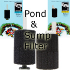 Sponge filters for aquarium systems, ponds