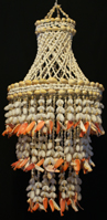 JELLYFISH RED, SHELL WIND CHIME-$19.99