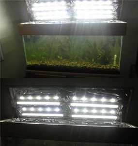 6400K Aquarium T2 lights with GroBeam LED Lights, Mylar Reflector