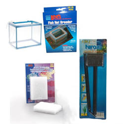 Aquarium Scraper, Scrubber Pad, Breeder Box