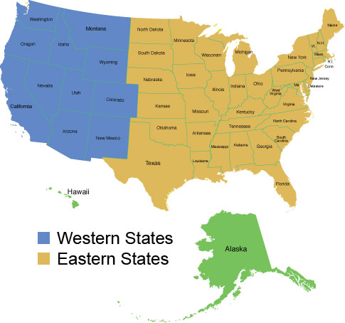 Shipping And Return Policy At American Aquarium Shipping Rates - Us shipping zones map