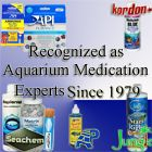 Aquarium and Pond Medication Treatments Experts, API Pharmaceuticals, Furan 2, General Cure, more