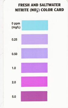 Aquarium Pharmaceuticals, Mars Fish Care Nitrite Test Color Chart