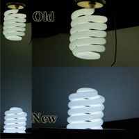 New Fluorescent Aquarium Light versus old in light output