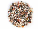 Rainbow aquarium gravel, number 3 grade