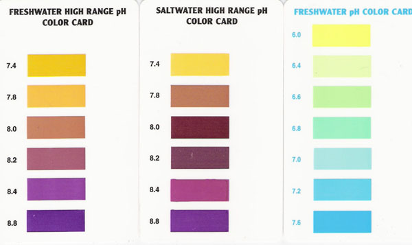 Aquarium Pharmaceuticals, Mars Fish Care pH Test Color Chart