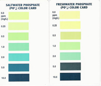 Aquarium Pharmaceuticals, Mars Fish Care Phosphate Test Color Chart