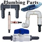 Aquarium, Pond Plumbing Parts, Hose Barbs, Ball Valves