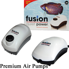 Aquarium Air Pumps, Fusion 700, 600, 300, small to large aquariums, hydroponics