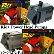 Rio 90, 180, 200, 1000, 1100 Aquarium Fountain, Water Pump