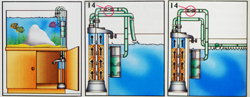 Fluidized Filter Mounting, Installation Diagrams