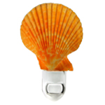 Orange Scallop Shell Night light