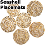 SHELL PLACEMATS (SET OF 6)