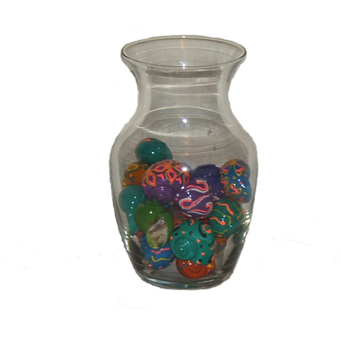 Painted seashell vase