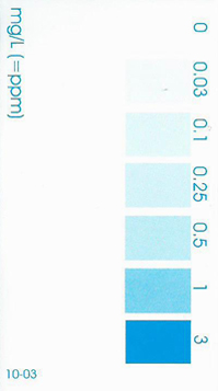 Salifert, Aquarium Silicate, Silica Test Color Chart