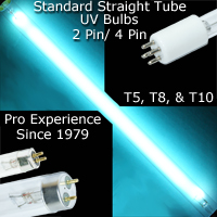 Straight tube standard UV Replacement Bulb, T5, T8