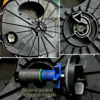 Cleaning or Changing Canister Filter Impeller