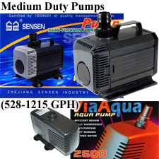 Via Aqua 2600 and SunSun HQB-3500 Water Pumps