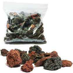 Volcanic rock for pond filtration, veggie filters