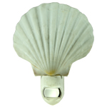 White Scallop Shell Night light